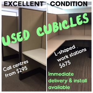USED CALL CENTRES FROM $295, CUBICLE WORK STATIONS $675