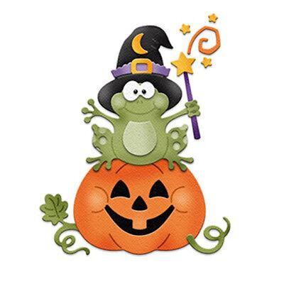 Halloween Cutting Die Pumpkin Frog with Witch hat Metal Stencils for DIY  - Halloween Pumpkin Stencils Witch