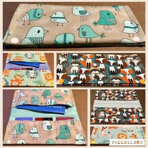 Vaccination book cover, Diaper Clutch, Teething bibs/accessories