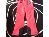 Women's Ski Trousers Bright Pink/Red UK Size 16 BRAND NEW