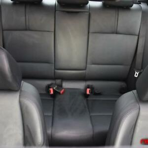BMW 7 Series rear black leather seats