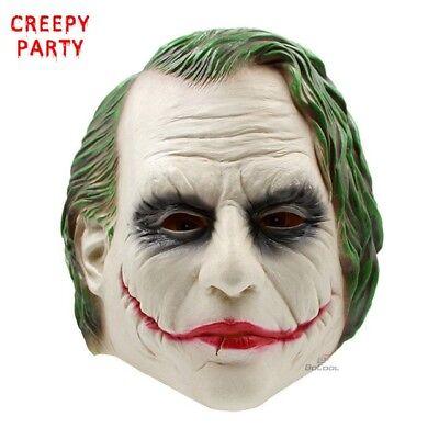 Scary Joker Mask REAL REPLICA High Quality Mask for Men Full Latex Mask Batman