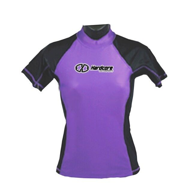 Ladies Rash Guard Hardcore Womens SPF 50 Surf Swim New