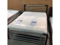 "NEW 4'6"" Birlea Montana double metal bed frame"