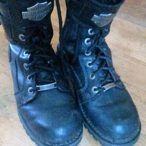 Womans Harley Davidson Boots  size 7.5  Black