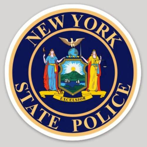 4 Inch Non-Reflective New York State Police Logo Sticker Decal