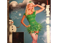 NAUGHTY ELF/Tinkerbell Dress Light Up Dress Fancy Dress size M 8/10 brand new Will post