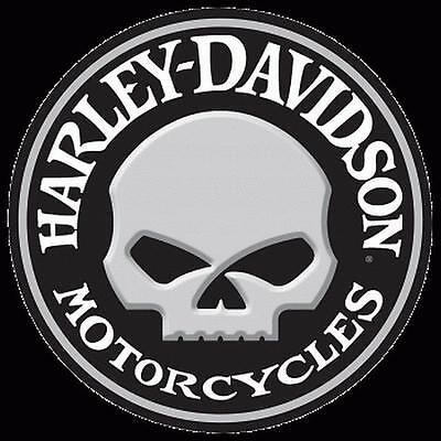 """HARLEY DAVIDSON-Willy Button Embossed 14 """" Round- TIN SIGN-New!!"""