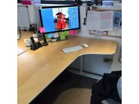 4 office desks and 4 chairs for sale