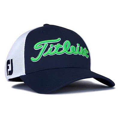 6a678547ccf TITLEIST GOLF TOUR SPORTS MESH FITTED HAT CAP SIZE  L XL NAVY WHITE LIME  19582