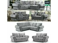 EXPRESS DELIVERY! LARGE CHESTERFIELD ARM CORNER/3+2 SEATER SOFA | FINANCE AVAILABLE | SWIVEL CHAIR