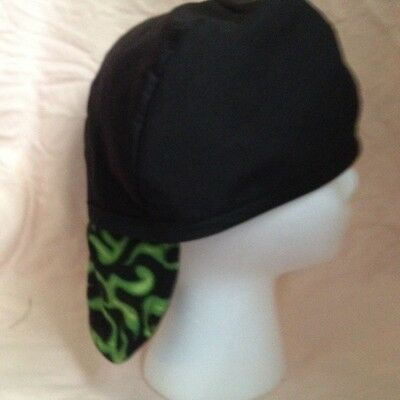 Welding Cap Reversible Green Flame 7