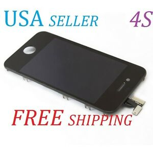Replacement LCD Touch Screen Digitizer Glass Assembly OEM for GSM iPhone4S Black