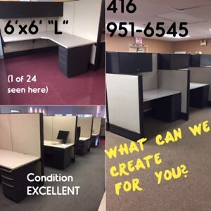 EXCELLENT COND USED CUBICLES: SUPPLIED, DELIVERED, INSTALLED NOW