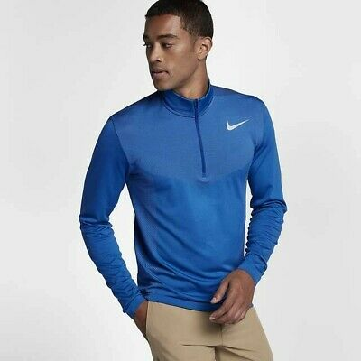 NIKE GOLF DRI-FIT KNIT 1/2 ZIP - SIZE EXTRA LARGE - BLUE (833280-454)