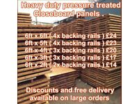 Top quality fence panels and concrete posts and gravel boards
