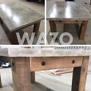 table en beton, concrete table, cement table
