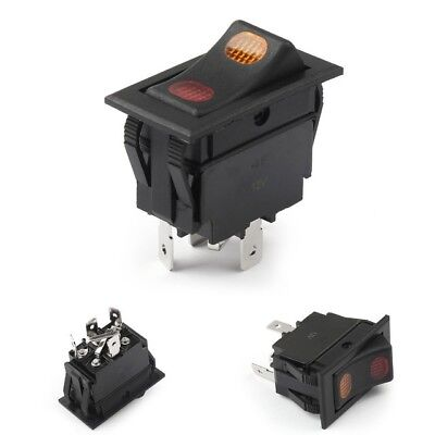 New 1pc Spdt Lighted Rocker Switch 10 Amps 12 Volts Dc Black On Off On