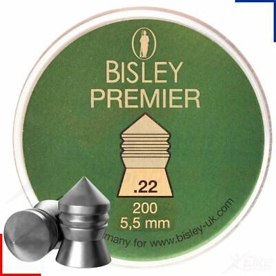 Bisley Premier .22 Heavy Accurate Hunting Air Rifle Pellets 5.5mm 200 Tin