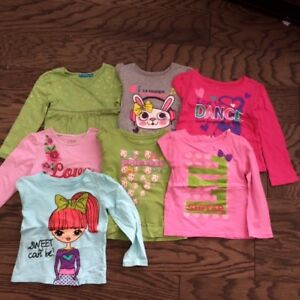 The Childrens Place Girls Long Sleeve Shirts, size 4T