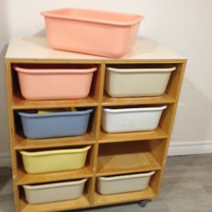 Rolling Storage & Heavy duty,  bins for toys, tools, crafts etc