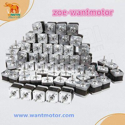 Usa Free Wantai 60pcs Nema17 Stepper Motor 42byghw609 1.8 4000g.cm 40mm 1.7a