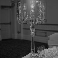 Candelabra, Linen, Chair Covers, Centerpieces, Back Drop Rentals