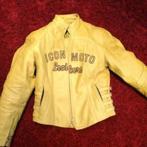 Leather Motorcycle jacket with padding