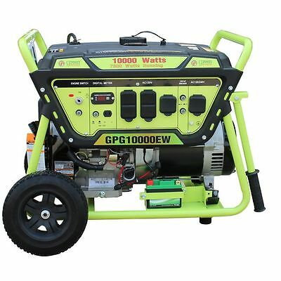 Green-Power America 10000 Watt 15 HP Portable Gas Power Generator/Electric Start