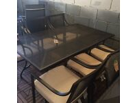 Rimini Mesh 6 seater table and chairs