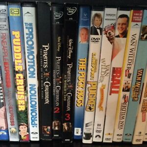 Over 300 DVDs (Movies and TV shows)
