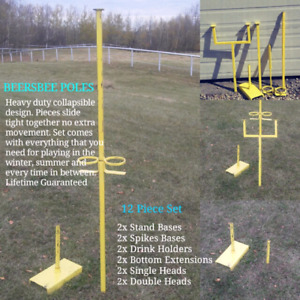 Heavy Duty Collapsible Beersbee Poles