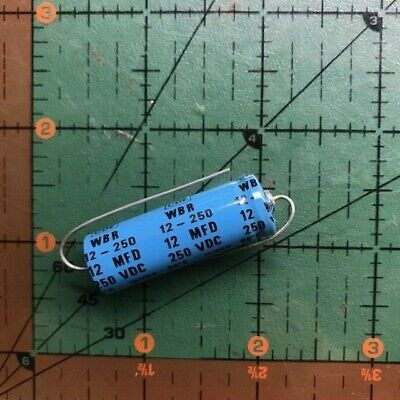 12uf 250v Cornell Dubilier Axial Electrolytic Capacitor Wbr12-250 Amp Audio 1pc