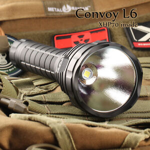 Convoy L6 Flashlight - XHP70 LED 5000K 3800 Lumen (New)