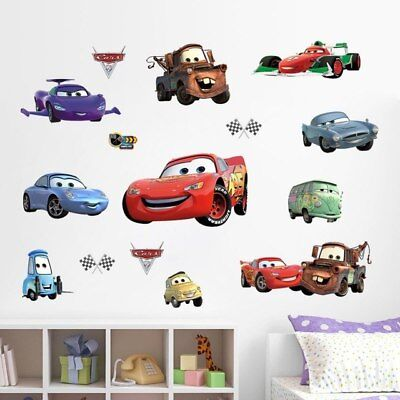 Super Cars McQueen Wall Decoration Stickers For Kids Room Kids Self Adhesive Car (Mcqueen Car For Kids)