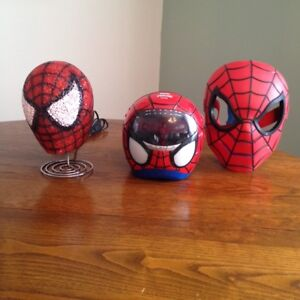 Spiderman Mask, Lamp and Radio with Sky ceiling beam