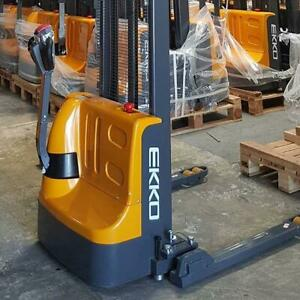 EKKO EB12E Straddle Stacker - Save on Tailgate Deliveries, Ideal for small warehouses, 3 year LTD Warranty
