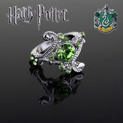 Harry Potter Slytherin House Ring  Wizarding World  Noble  Hogwarts  Jewelry  Hp