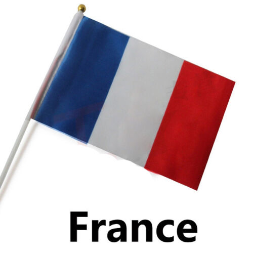 Small France Hand Waving Flag - French National Game Supporter Car Travel Banner