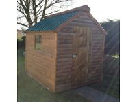Top Quality 8ft x 6ft 20mm Log board Garden Shed Delivered and set up anywhere in Northern Ireland