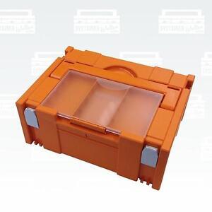 Tanos Systainer classic Gr. 2 orange mit Deckelfach BTI Festool Hitachi