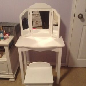 Girls White Vanity - New