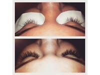 Semi permanent eyelash extensions & gelish nails