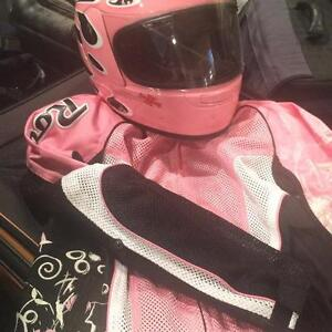 Womens Joe Rocket Jacket, Ariai helmet and H. Davidson Gloves