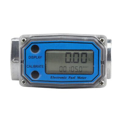1 Digital Turbine Flow Meter Gas Oil Fuel Flowmeter Pump For Diesel Kerosene