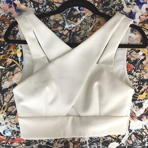 Nicholas The Label White Crop Top RRP $180 North Lakes Pine Rivers Area Preview