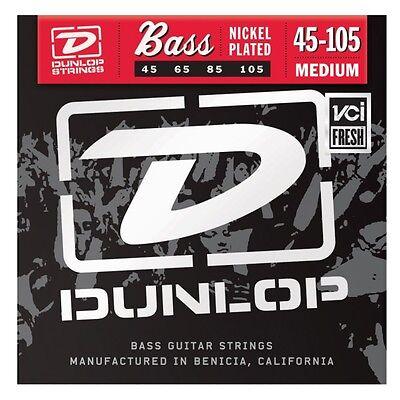 (Dunlop DBN45105 Nickel Plated Steel bass guitar strings, Medium .045-.105)