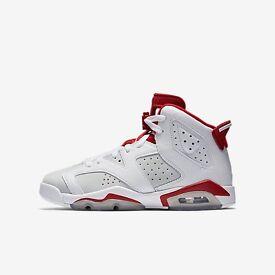 Nike Air Jordan 6 Retro UK 6, 7Y, EUR 40, 25cm White