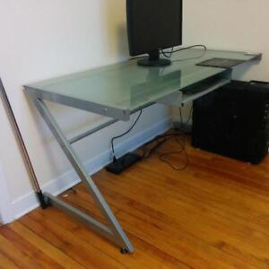 Structube - STUDIO Tempered glass + iron desk - MONDAY ONLY!