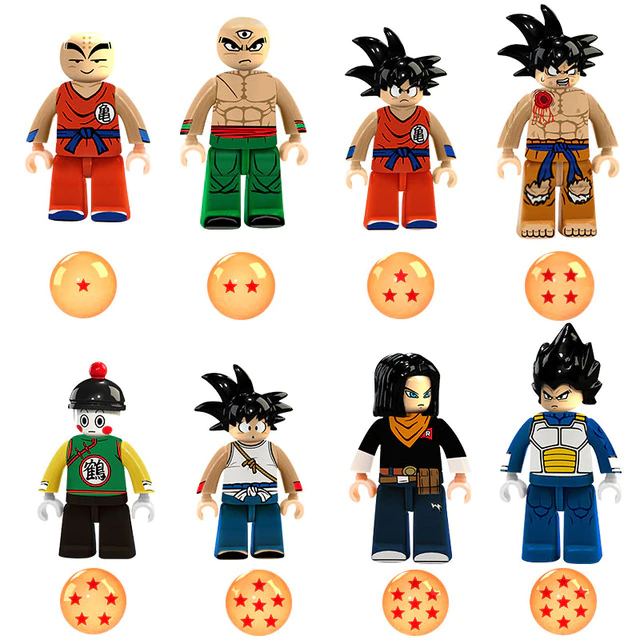 Count:8 figures A:24pcs Dragon Ball Z Action For Lego Figure Super Goku Building Block Toy Heroes
